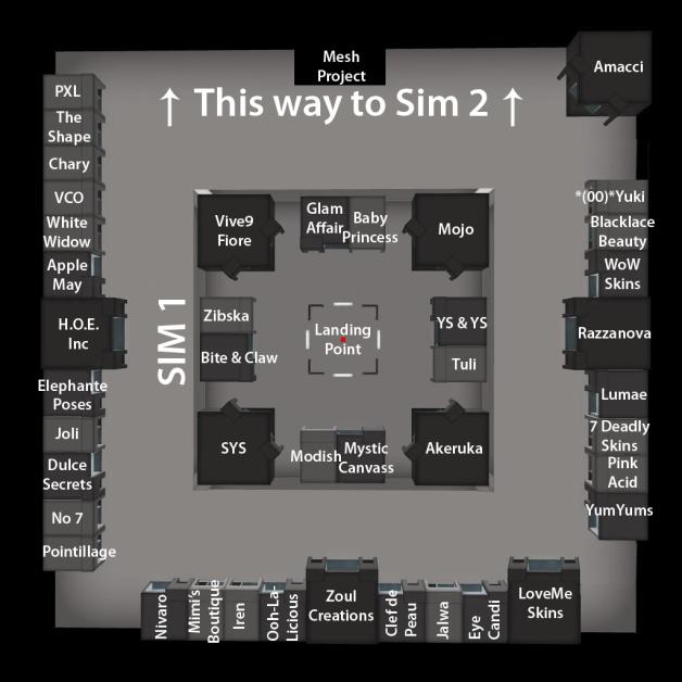 The Skin Fair 2014 - Map - Sim 1
